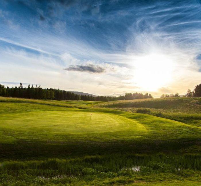 Åre golfklubb green hål 15