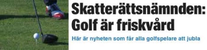 Friskvårdsbidraget golf